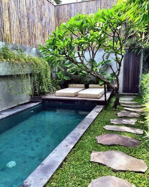 Pool Bamboo Fence Ideas