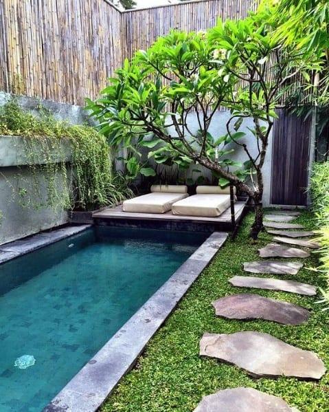 Pool Bamboo Fence Ideas