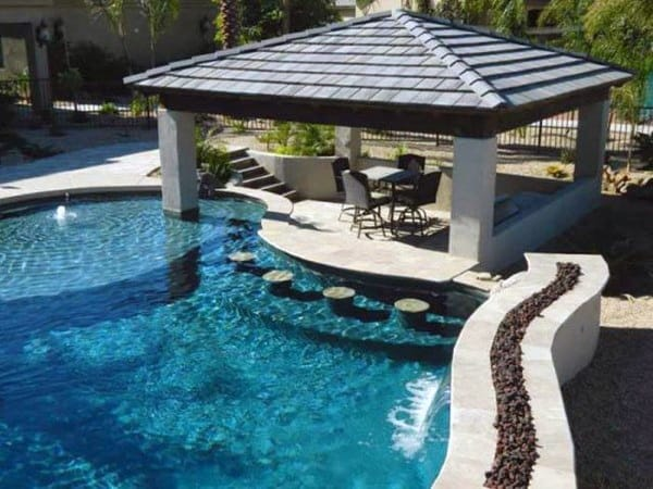Pool Concrete Outdoor Bar Ideas