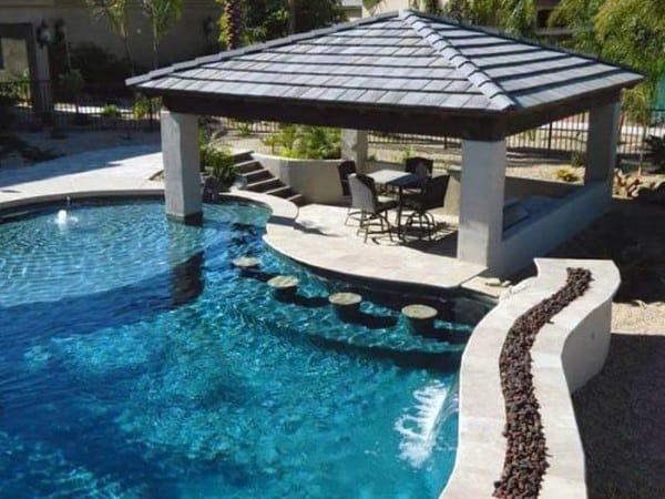 Pool Concrete Outdoor Bar Ideas