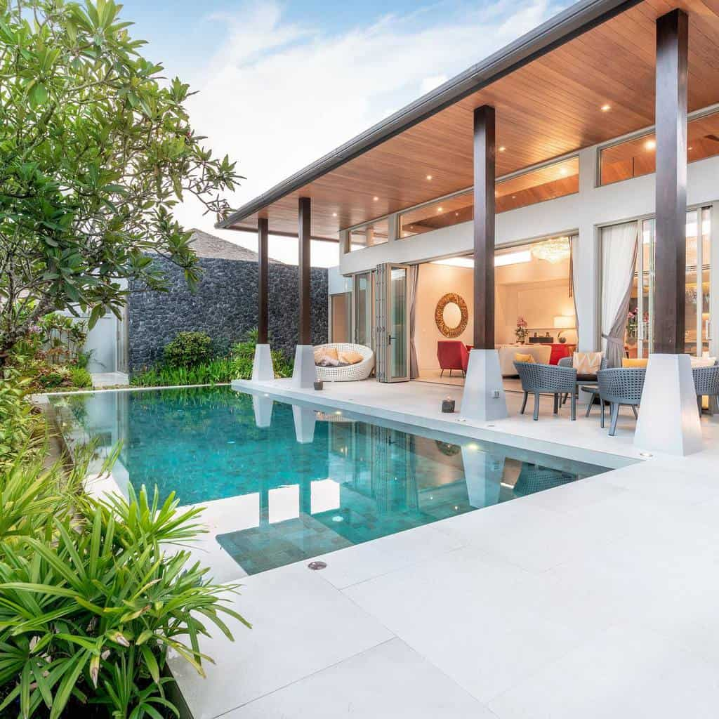 pool covered patio ideas scheerconstructions