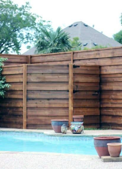Pool Equipment Fence Rustic Design Ideas