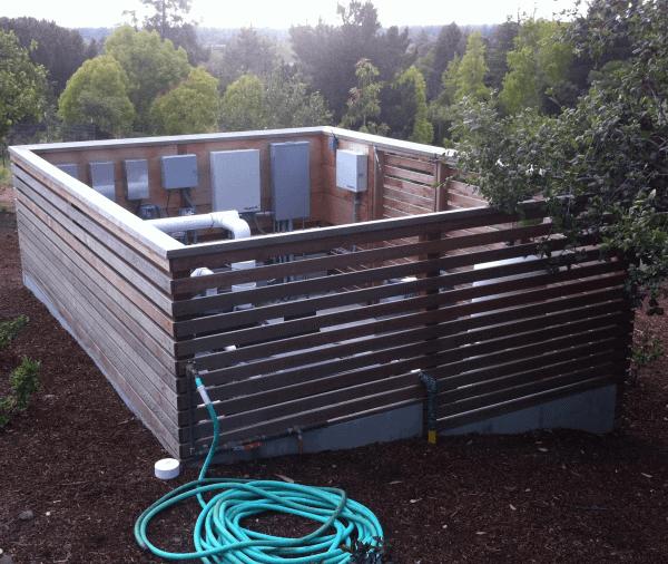 Pool Equipment Hidden Fence Ideas