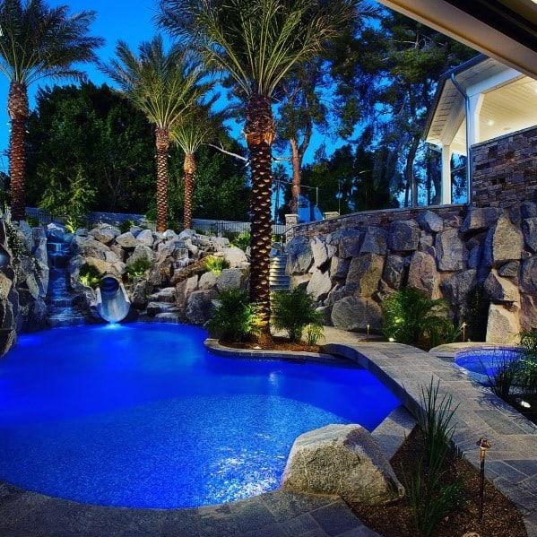 Pool Exterior Landscape Lighting Design