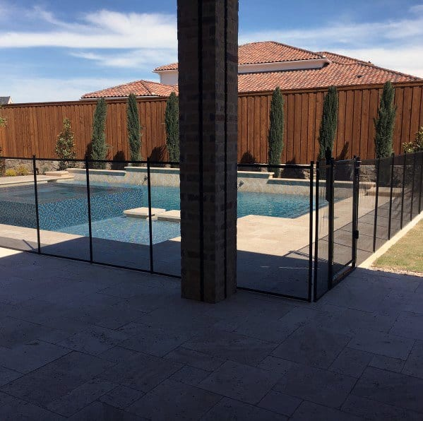 Pool Fence Backyard Ideas Mesh