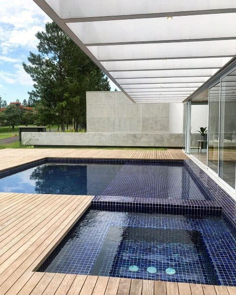 Pool Ideas For Home Hot Tub Deck