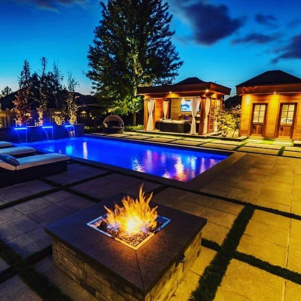 Pool Lighting Backyard Design