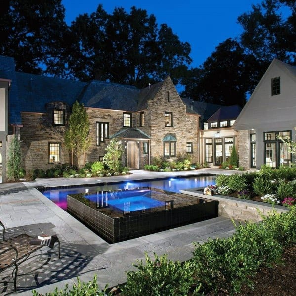 Pool Lighting Backyard Ideas