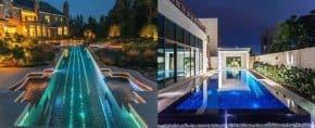 Top 60 Best Pool Lighting Ideas – Underwater LED Illumination