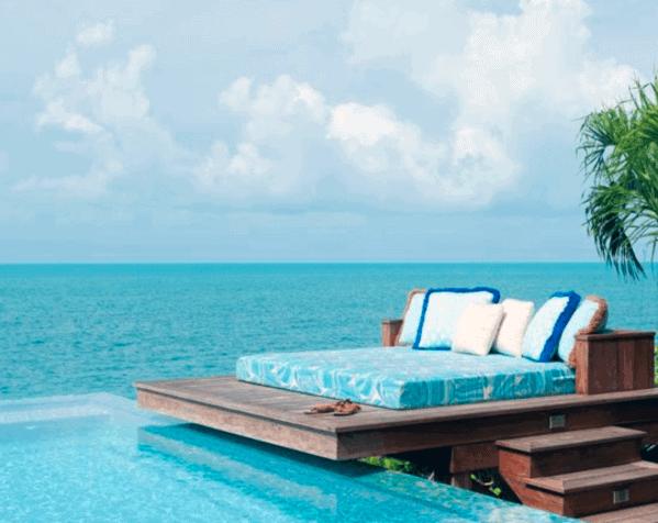 Pool Modern Floating Deck Ideas