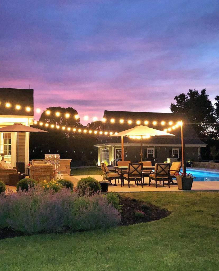 pool patio lighting ideas homeonnativetrail