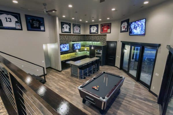 Pool Table Bar Bat Man Cave Ideas For Gentlemen