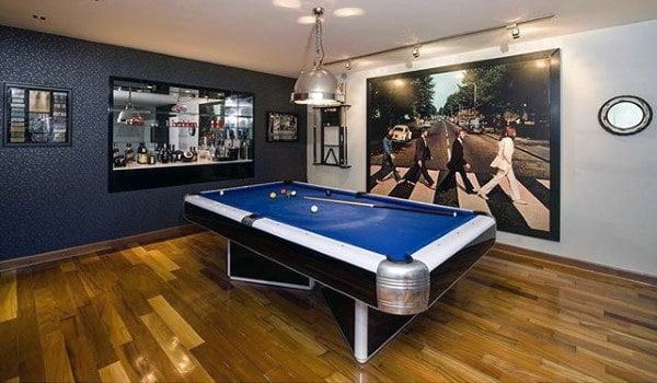Pool Table Room In Basement For Men