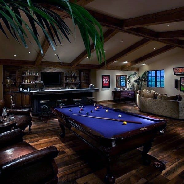 Pool Table With Bar Guys Cool Man Cave Ideas