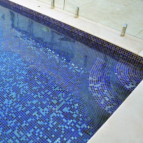 Pool Tiles Navy Blue Design Ideas
