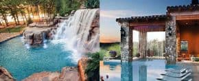 Top 60 Best Pool Waterfall Ideas – Cascading Water Features