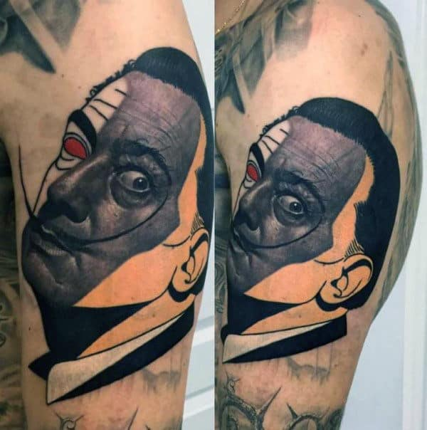 Pop Art Mens Upper Arm Tattoo Designs
