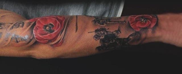Poppy Tattoo Designs For Men