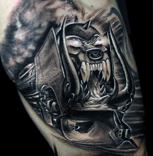 Popular Arm Train Tattoos Men