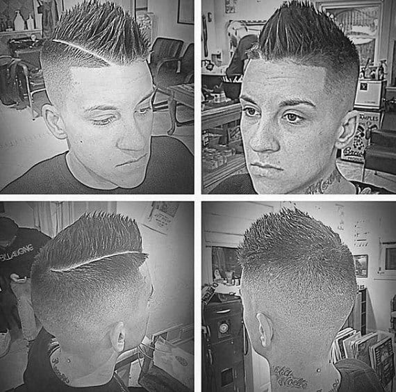 Popular Faux Hawk Taper Fade Haircut For Males