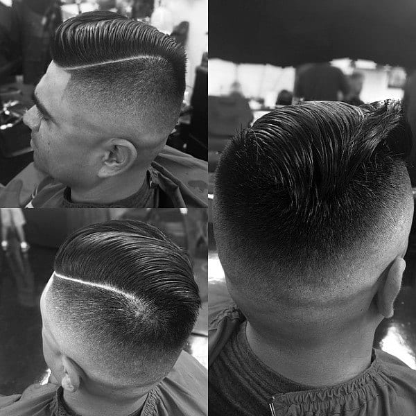 Popular Mens Comb Over With Fade Haircut Look