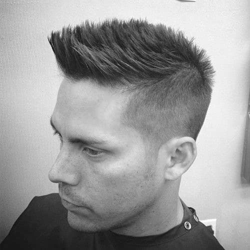 Popular Mens Faux Hawk Fade Haircut Ideas