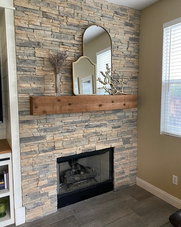 Porcelain Wood Tile Stone Fireplace Surround 4glam Girls
