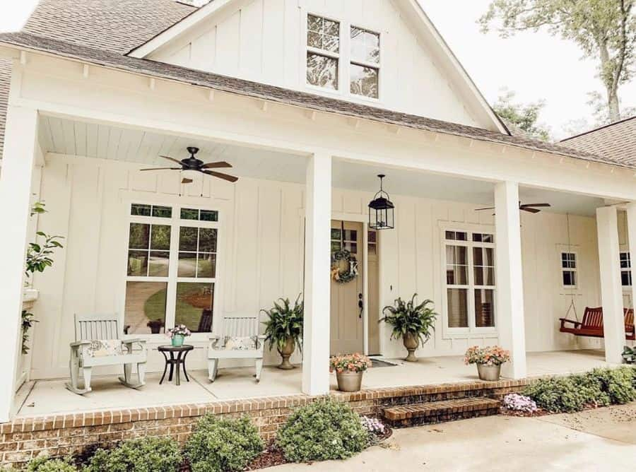 Porch Ideas Modern Farmhouse Exterior Southernsurroundings