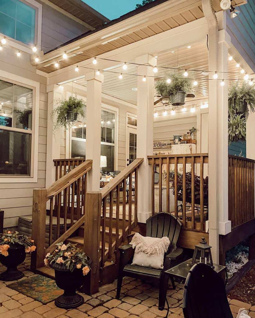 porch patio lighting ideas maple.and.dickerson