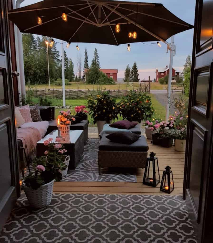 porch patio lighting ideas mylittleredhouse