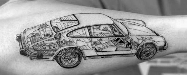 40 Porsche Tattoo Ideas For Men – German Automobile Designs