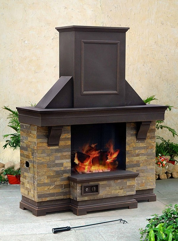 portable outdoor brick fireplace
