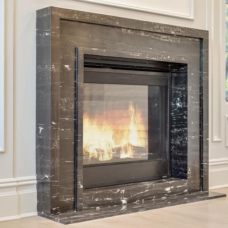 Portoro Marble Fireplace Surround Ruthgoharihomes