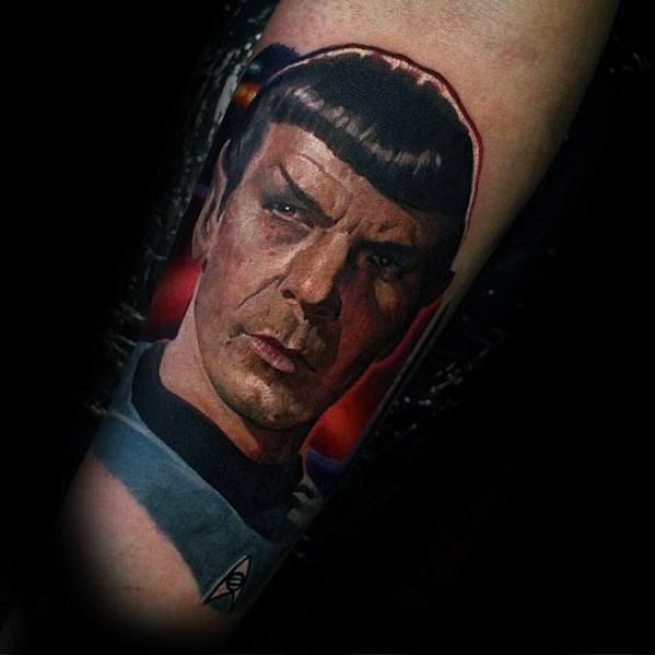 Portrait 3d Forearm Cool Male Star Trek Tattoo Designs