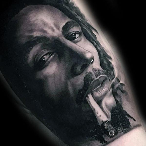 Portrait Bob Marley Male Tattoos