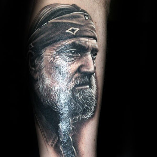 Portrait Forearm Tattoo Designs For Males
