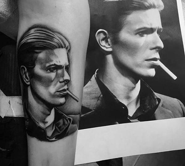 Portrait Mens Tattoo Designs On Forearm