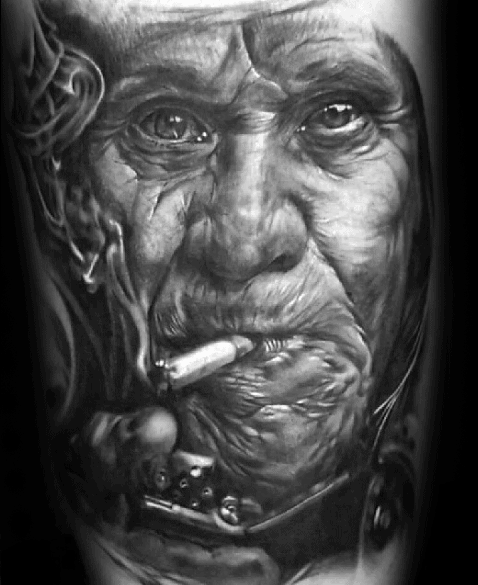 Portrait Mens Tattoo Ideas On Arm