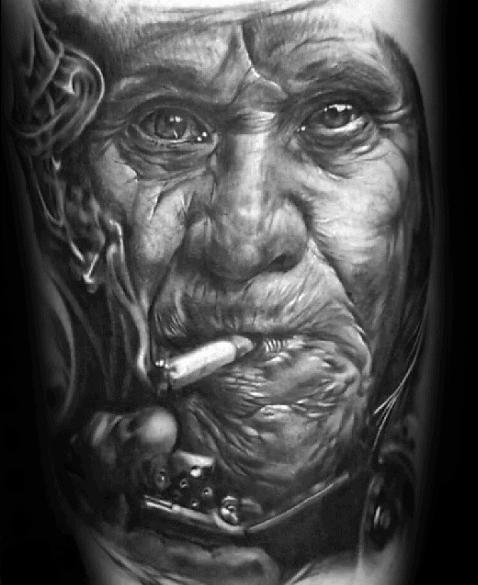 Portrait Mens Tattoo Ideas On Arm