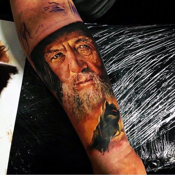 Portrait Modern Male Arm Tattoos