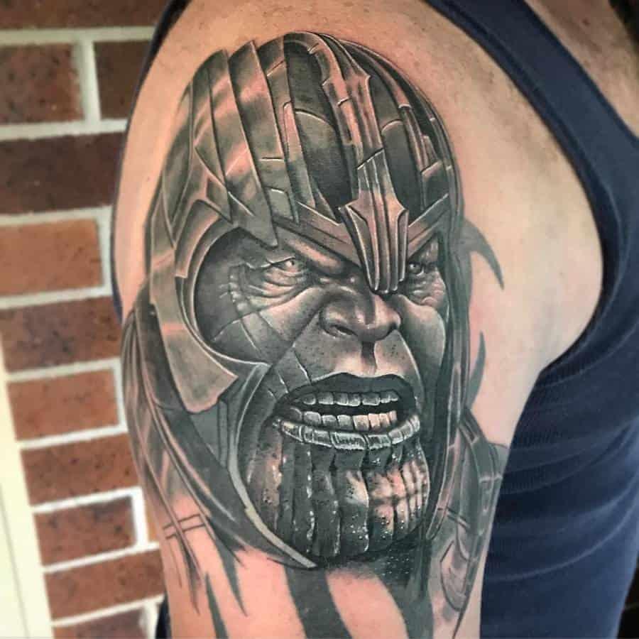 Portrait Thanos Tattoo Ashgravino