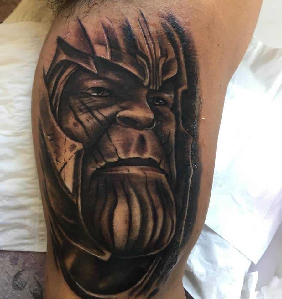 Portrait Thanos Tattoo Blackinblack999