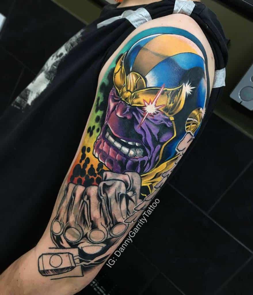 Portrait Thanos Tattoo Dannygarritytattoo