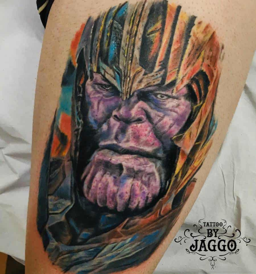 Portrait Thanos Tattoo Jaggoblackjack