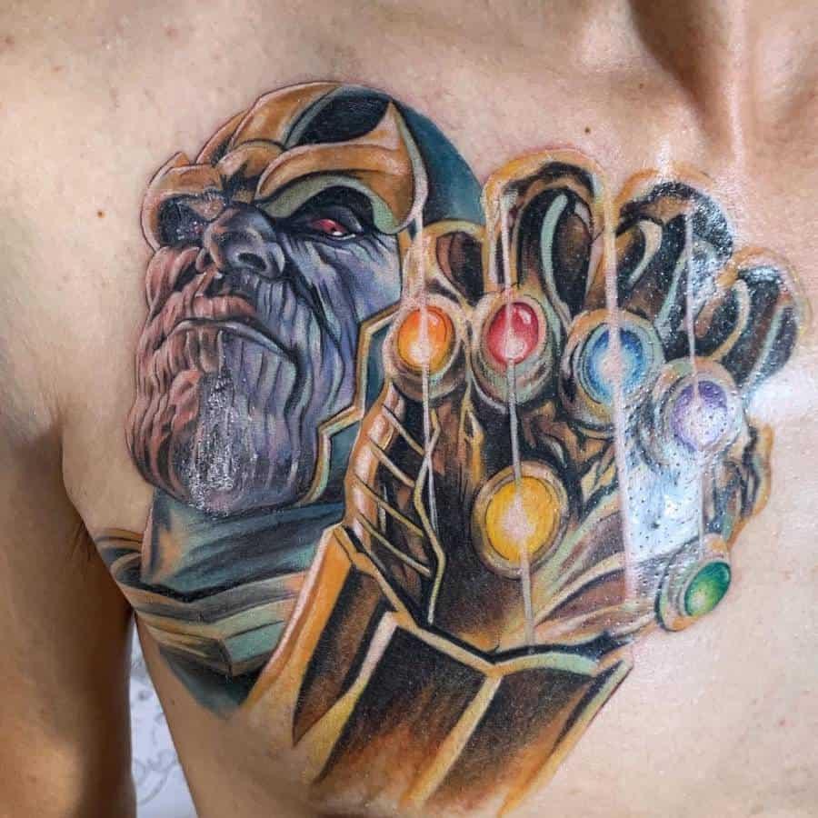 Portrait Thanos Tattoo Jingya Duck