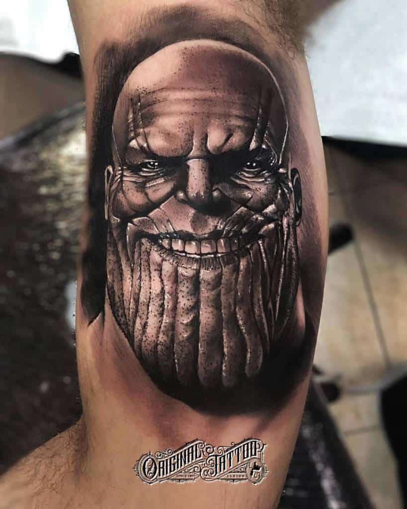 Portrait Thanos Tattoo Josu Original Tattoo
