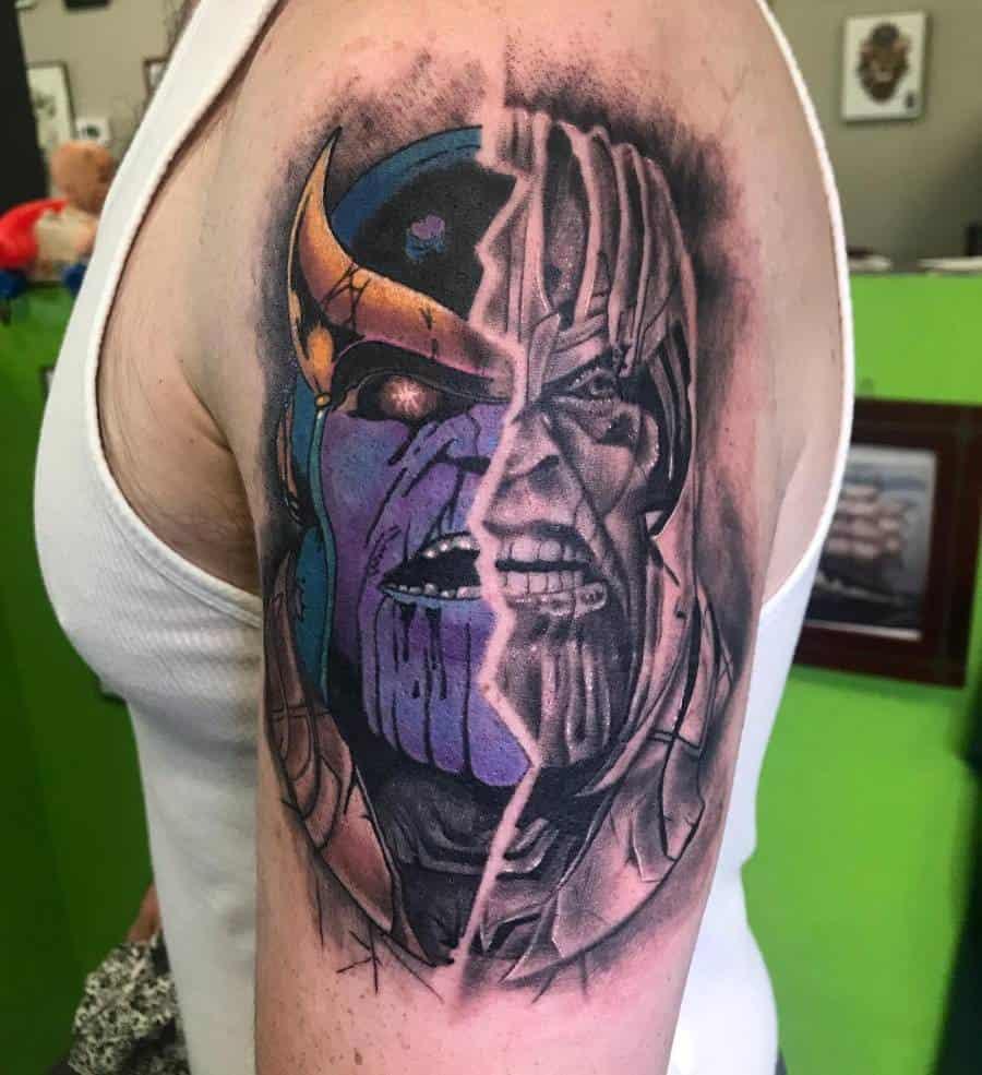 Portrait Thanos Tattoo Mattjacksontattoos