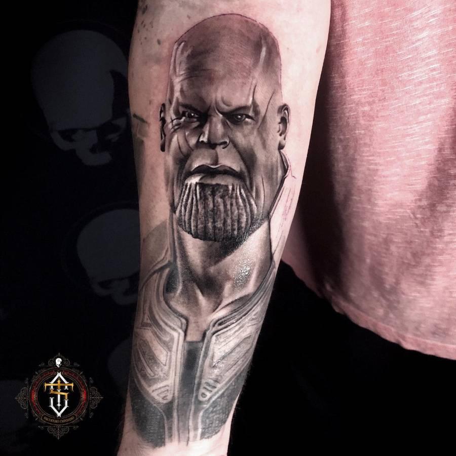 Portrait Thanos Tattoo Salva Tattoos