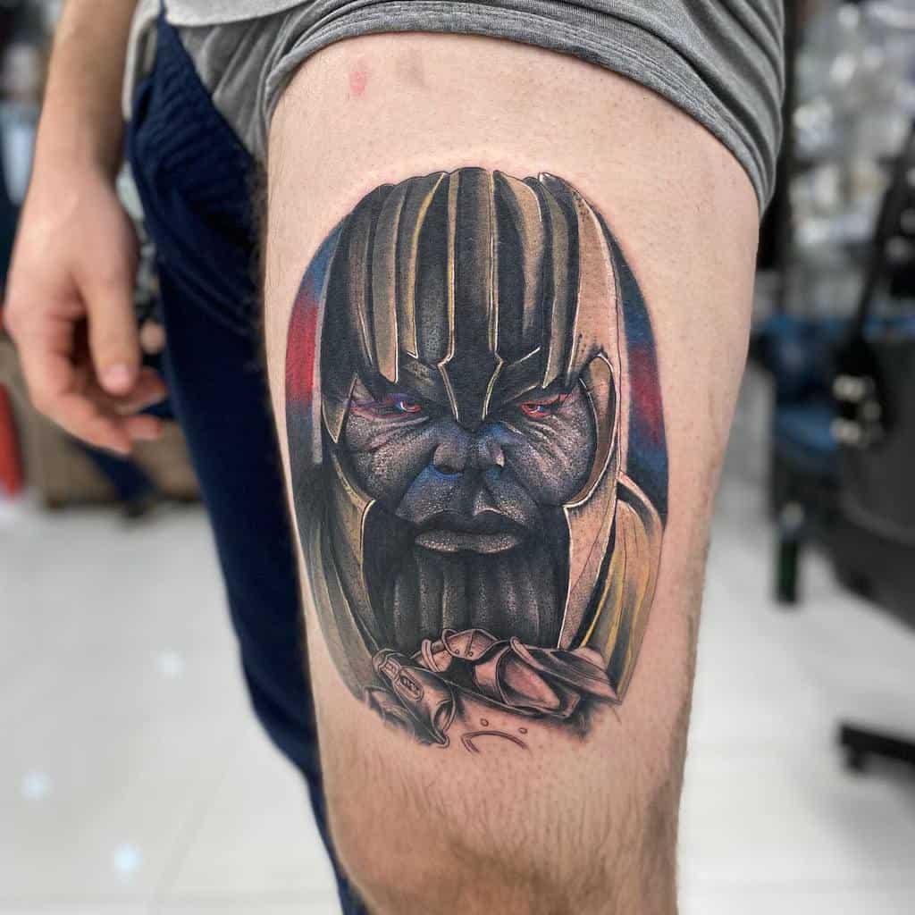 Portrait Thanos Tattoo Sam Andrews Tattoo