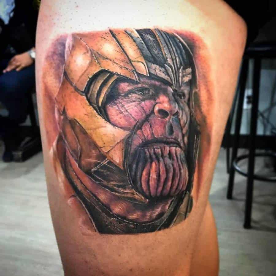 Portrait Thanos Tattoo Willeentattoo